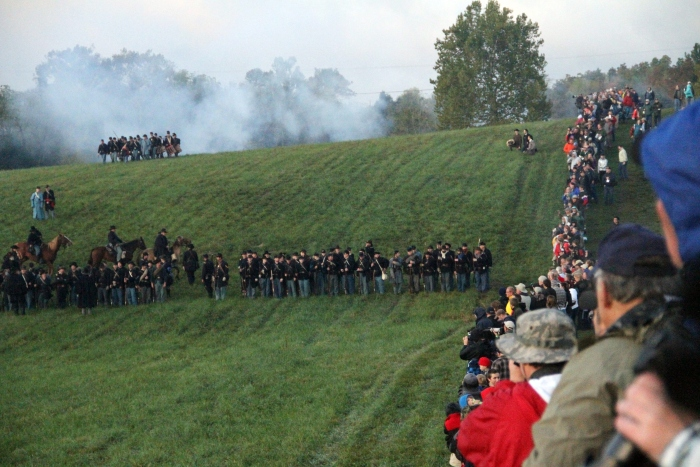 A Civil War reenactment at Perryville Battlefield State Historic Site