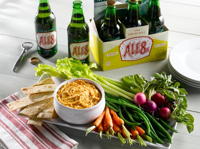 Beer cheese and Ale-8-One, two traditional items of Kentucky's Bluegrass region