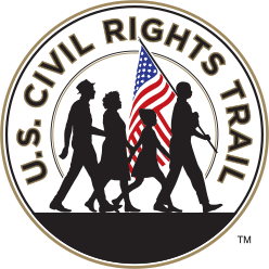 Circular U.S. Civil Rights Trail logo