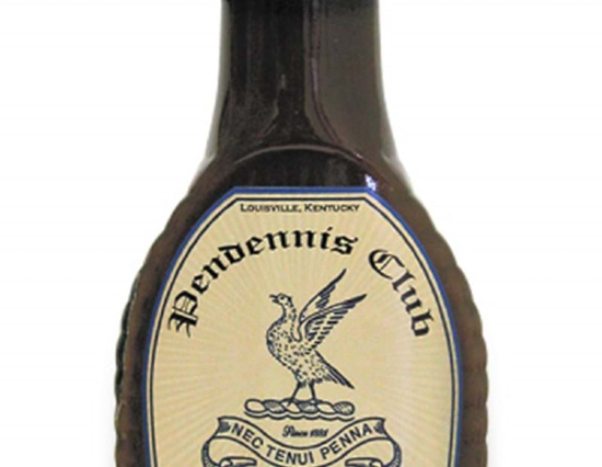 A shot of a packaged bottle of Henry Bain's Sauce from Louisville's Pendennis Club.