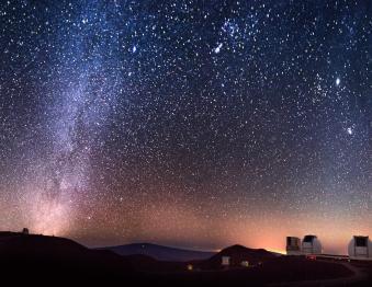 Reach for the Stars - Hunters Moon & Star Gazing Photo