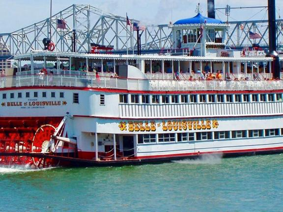 The Belle of Louisville on the Ohio River