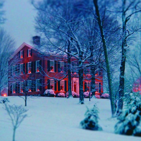 My Old Ky Home in the snow