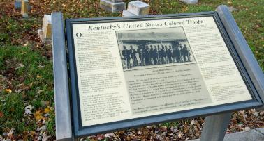 A plaque commemorating Kentucky's United States Colored Troops