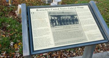 A plaque at Kentucky's Green Hill Cemetery commemorates Kentucky's United States Colored Troops