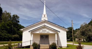 A small white church in Kentucky