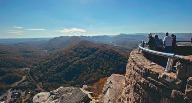 A scenic overlook at Cumberland Gap National Historical Park