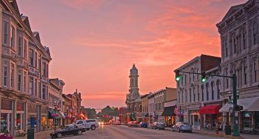 Georgetown, Kentucky at sunset
