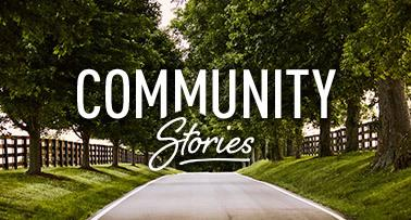Community Stories in Kentucky with park/pathway background