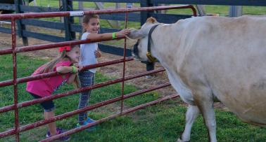 Chaney's Dairy Cow with little girls