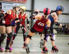 Black-n-Bluegrass Roller Derby Photo