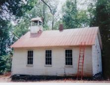 Hildreth School before restoration and new location  Photo