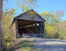 Cabin Creek Covered Bridge Photo