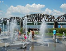 Riverfront Fountains Photo
