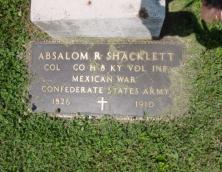 Colonel Absalom Redmond Shacklett Gravesite Photo