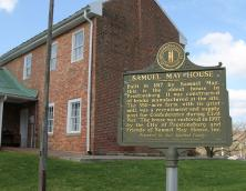 The historical marker outside the Samuel May House. Photo