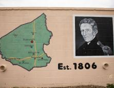 Portraits of Hopkins County and Samuel Hopkins (who Hopkins Co. is named for) Photo