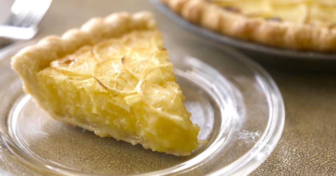 A slice of lemon pie from Shaker Village of Pleasant Hill