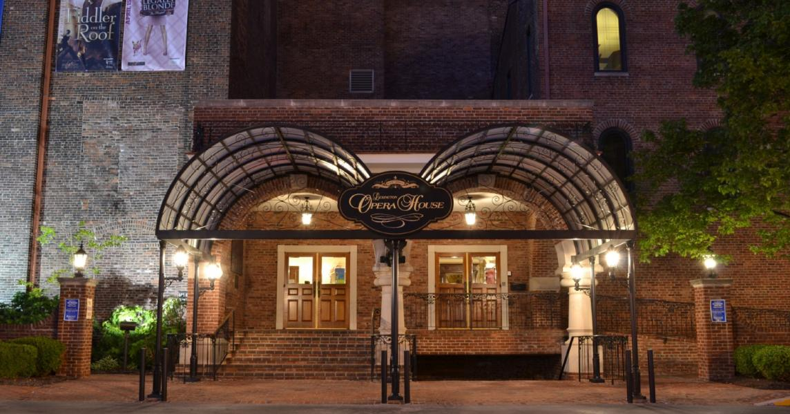 Exterior of the Lexington Opera House at night
