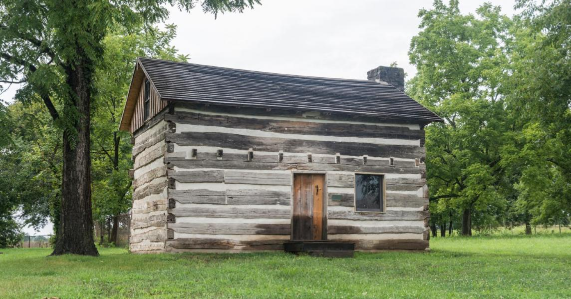 Exterior of the Col. Charles Young Birthplace cabin