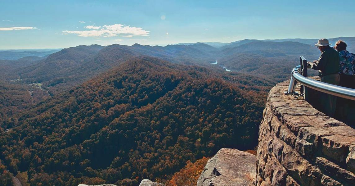 A sweeping overlook at Cumberland Gap National Historical Park