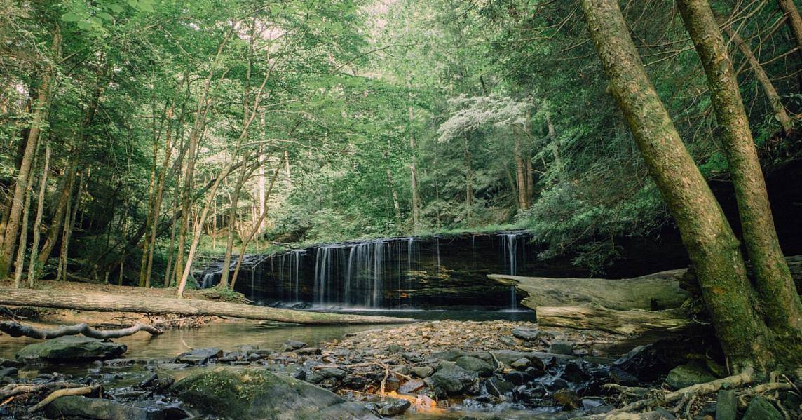 A waterfall at Kentucky's Big South Fork National Recreation Area