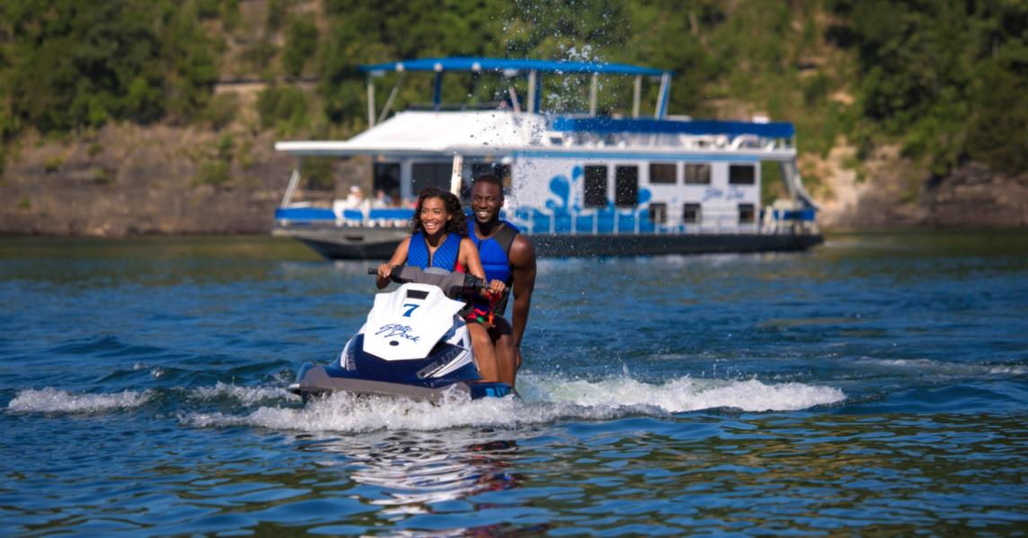 A couple jet-skis on Kentucky's Lake Cumberland