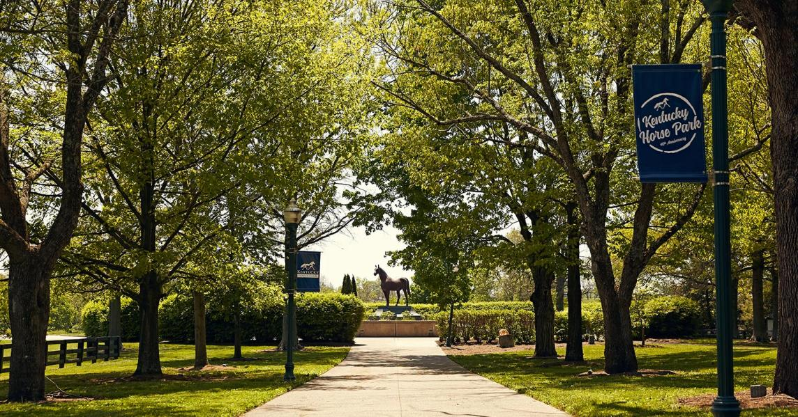 Kentucky Horse Park Entrance with signs