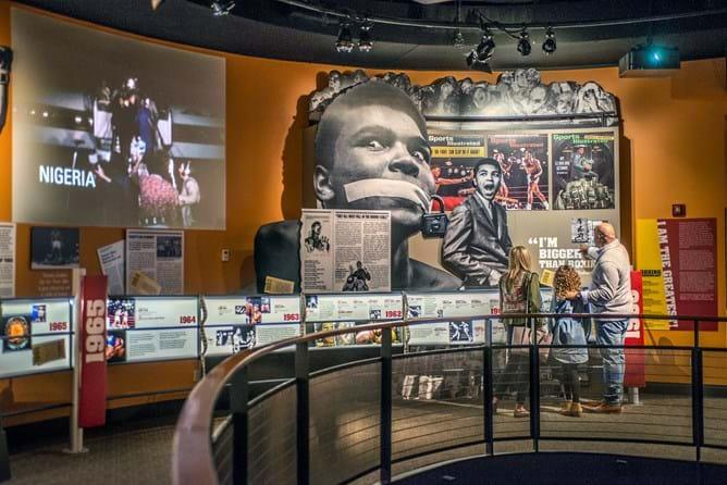 Exhibit inside the Muhammad Ali Center in Louisville, KY