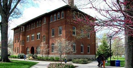 Exterior of Lincoln Hall, Berea College, in Berea, Kentucky