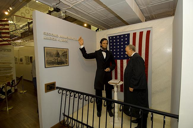 Inside Lincoln Museum wax figures