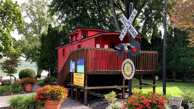 Caboose at welcome center