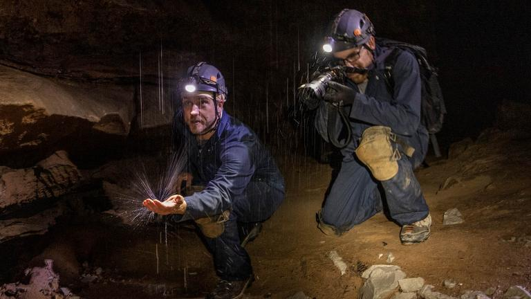 Host Adam Glick goes spelunking at Mammoth Cave National Park in Kentucky
