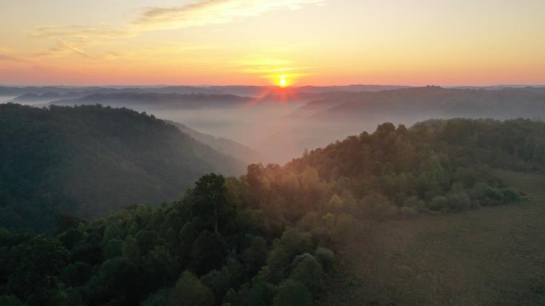 Sunrise over the Appalachian Mountains